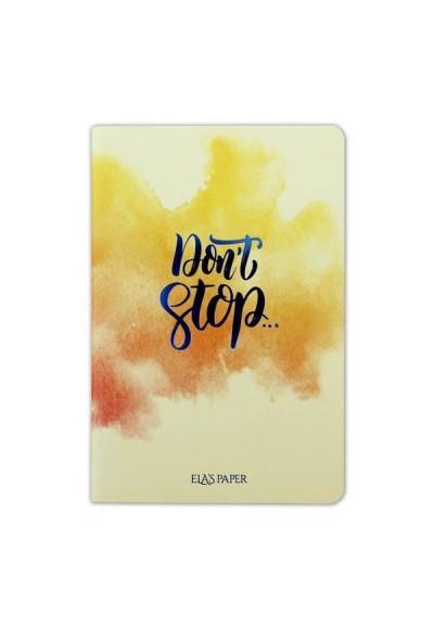 Watercolor Don't Stop - Defter