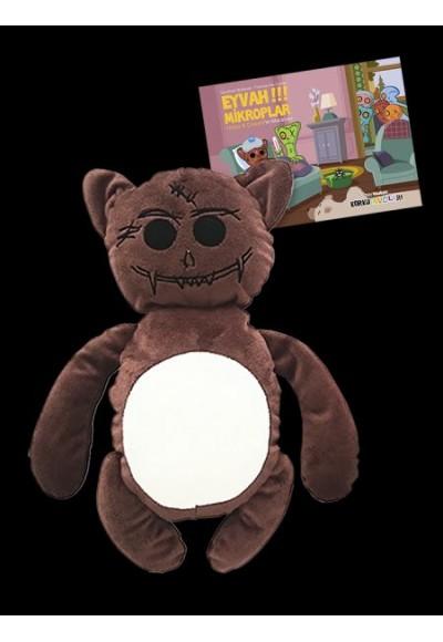 Korku Avcıları Teddy (Peluş Oyuncağı + Eyvah! Mikroplar Kitabı)