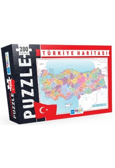 Blue Focus Türkiye Haritası - Puzzle 200 Parça