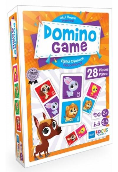 Blue Focus Domino Game Puzzle 28 Parça