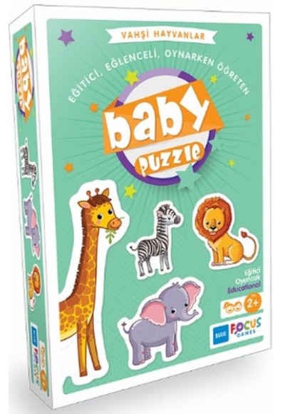 Blue Focus Vahşi Hayvanlar - Baby Puzzle