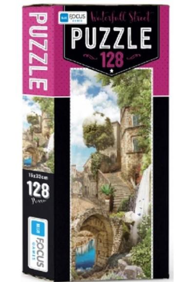 Blue Focus Waterfall Street - Puzzle 128 Parça