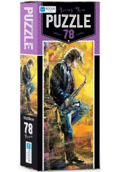 Blue Focus Young Man - Puzzle 78 Parça