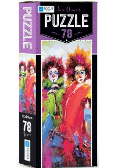 Blue Focus Two Clowns Puzzle 78 Parça