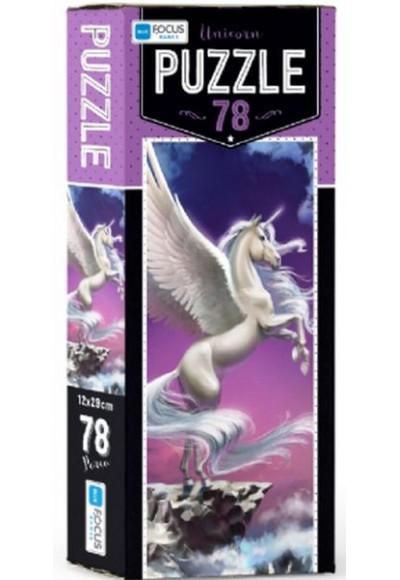 Blue Focus Unicorn - Puzzle 78 Parça
