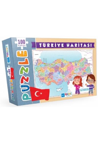 Blue Focus Türkiye Haritası - Puzzle 100 Parça