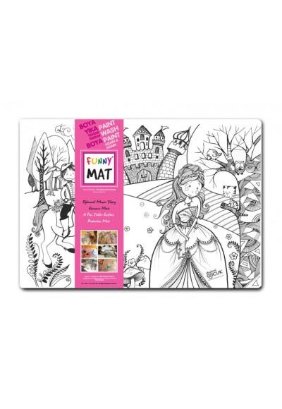 Funny Mat Prens ile Prenses 33,5x48cm
