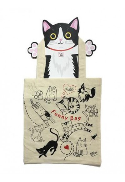 Funny Bag Çanta Sevimli Kediler 38x40 cm