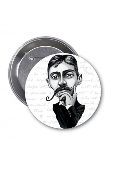 Marcel Proust Karikatür Rozet Aylak Adam Hobi