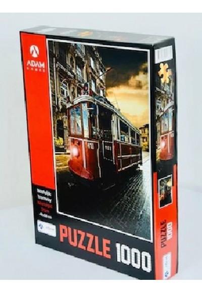 Nostaljik Tramvay 1000 Parça Puzzle