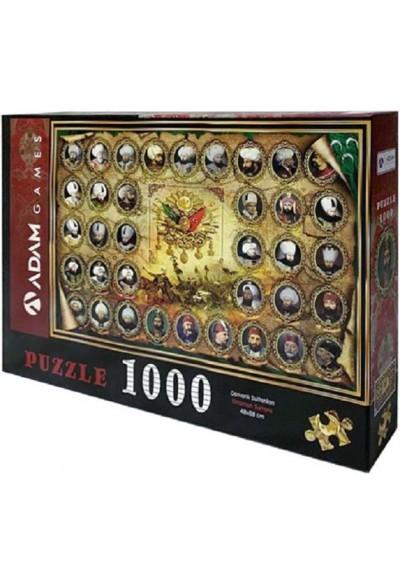 Osmanlı Sultanları 1000 Parça Puzzle 48x68