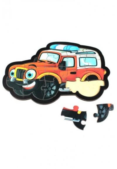 Jeep Puzzle - Ahşap