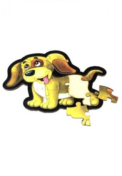Sarı Köpek Puzzle Ahşap