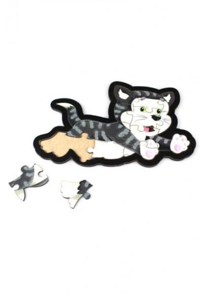 Kedi Puzzle - Ahşap