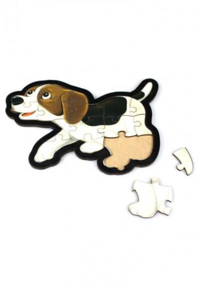 Köpek Puzzle - Ahşap