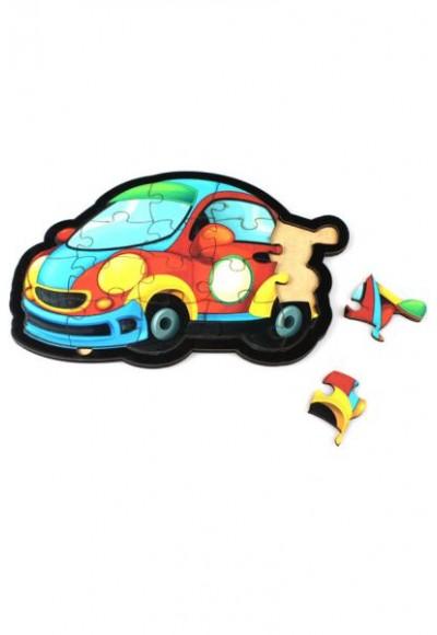Otomobil Puzzle - Ahşap