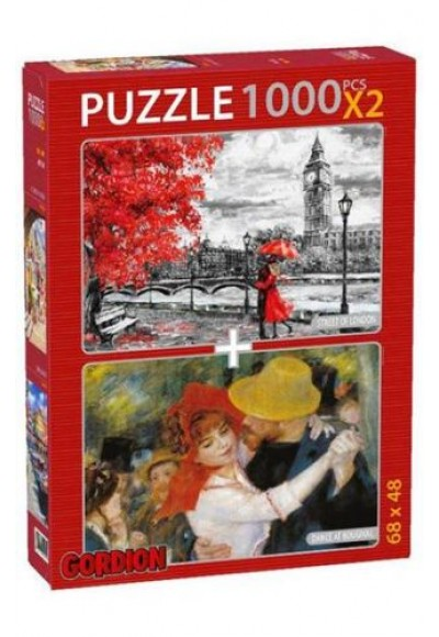 Street Of London Dance At Bougival 2x1000 Parça Puzzle 40146