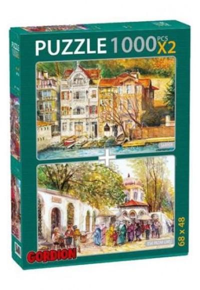 Sarıyer Eski Pazar Girişi 2x1000 Parça Puzzle 40154