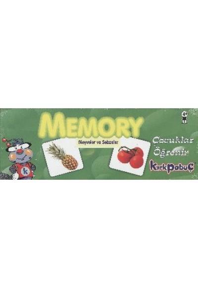 Memory Meyveler ve Sebzeler Puzzle 54 7205