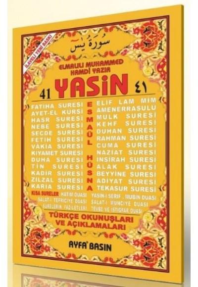 41 Yasin 2 Renk Fihristli Türkçe Okunuşları ve Açıklamaları Rahle Boy Üçlü