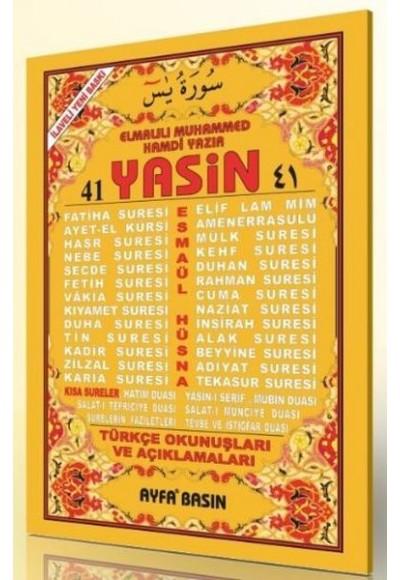 41 Yasin 2 Renk Fihristli Türkçe Okunuşları ve Açıklamaları Cami Boy Üçlü