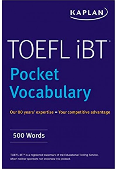 Kaplan TOEFL Pocket Vocabulary 600 Words 420 Idioms Practice Questions