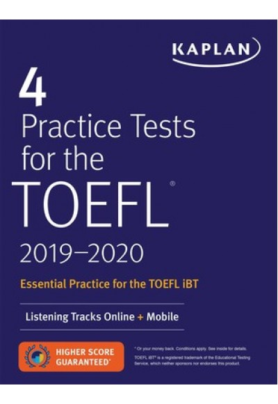 Kaplan 4 Practice Tests for the TOEFL 2019 2020 Listening Tracks Online Mobile