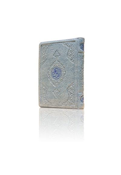Çanta Boy Kur'an ı Kerim Mavi Renk, Kılıflı, Mühürlü