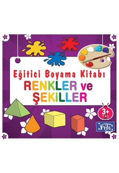 Eğitici Boyama Kitabı - Renkler ve Şekiller