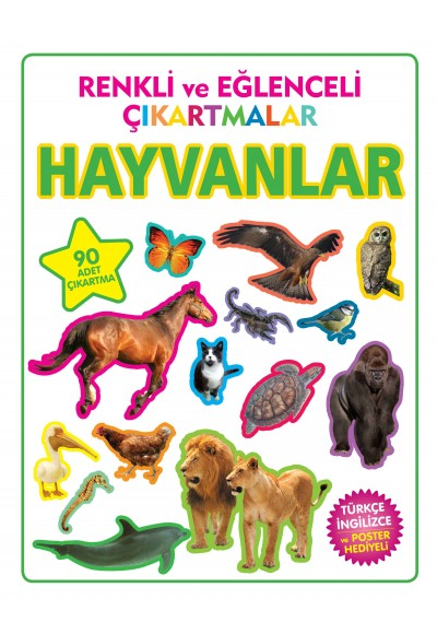 Renkli ve Eğlenceli Çıkartmalar Hayvanlar