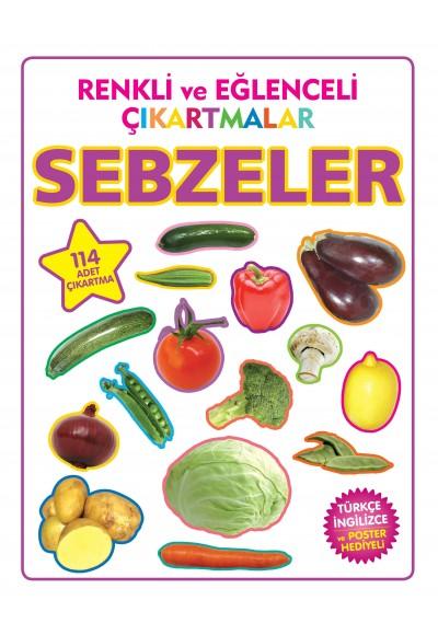 Renkli ve Eğlenceli Çıkartmalar Sebzeler
