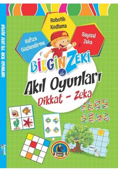Bilgin Zeki ile Akıl Oyunları Dikkat Zeka Yeşil Seri