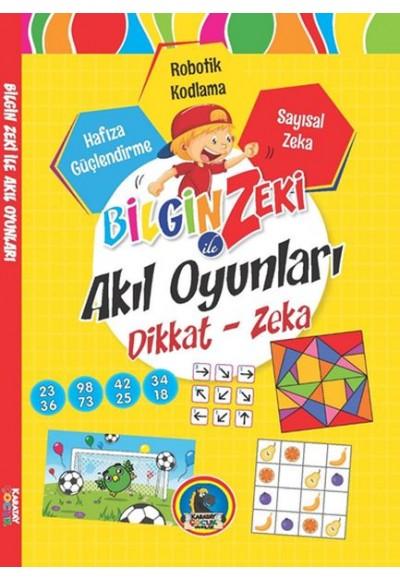 Bilgin Zeki ile Akıl Oyunları Dikkat Zeka Sarı Seri