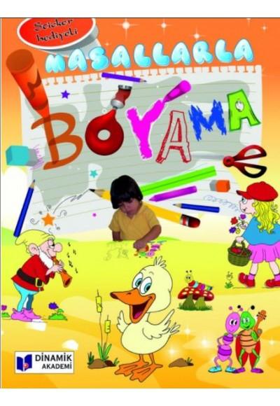 Masallarla Boyama Sticker Hediyeli