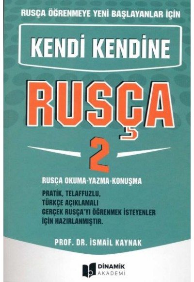 Dinamik Akademi Kendi Kendine Rusça 2 Yeni