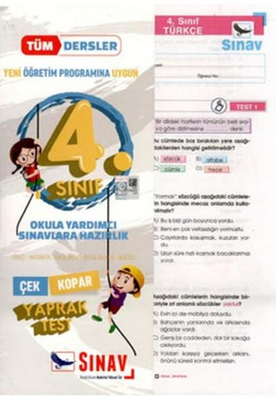 Sınav 4. Sınıf Tüm Dersler Çek Kopar Yaprak Testler Yeni
