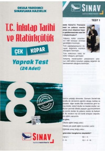 Sınav 8. Sınıf T.C. İnkılap Tarihi ve Atatürkçülük Çek Kopar Yaprak Test Yeni