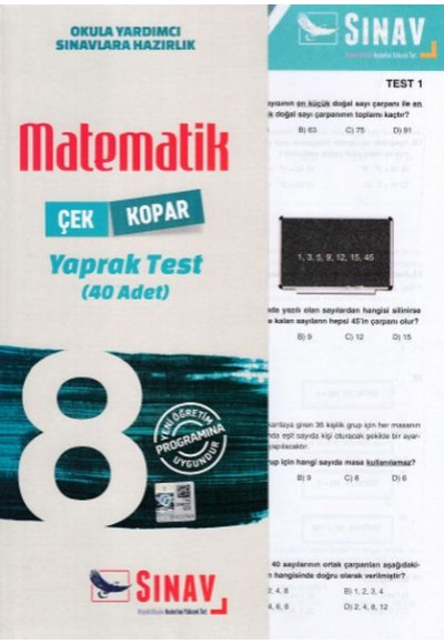 Sınav 8. Sınıf Matematik Çek Kopar Yaprak Test Yeni