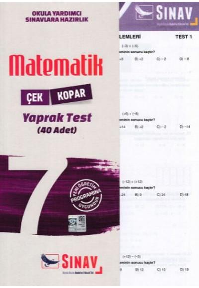 Sınav 7. Sınıf Matematik Çek Kopar Yaprak Test Yeni