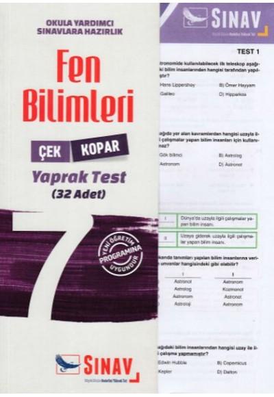 Sınav 7. Sınıf Fen Bilimleri Çek Kopar Yaprak Test Yeni