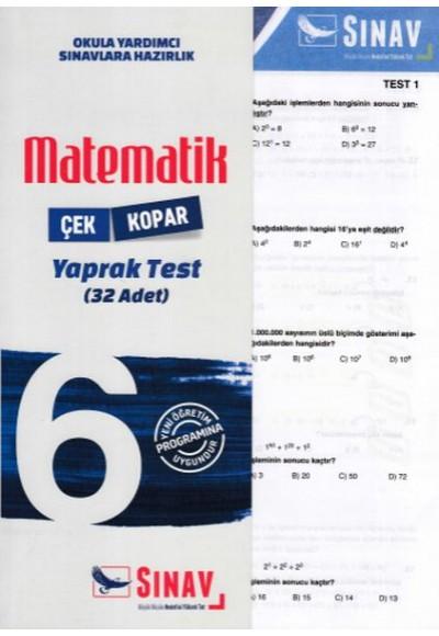 Sınav 6. Sınıf Matematik Çek Kopar Yaprak Test Yeni