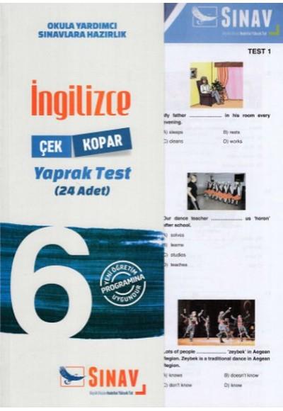 Sınav 6. Sınıf İngilizce Çek Kopar Yaprak Test Yeni
