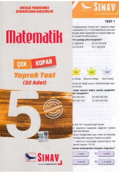Sınav 5. Sınıf Matematik Çek Kopar Yaprak Test Yeni