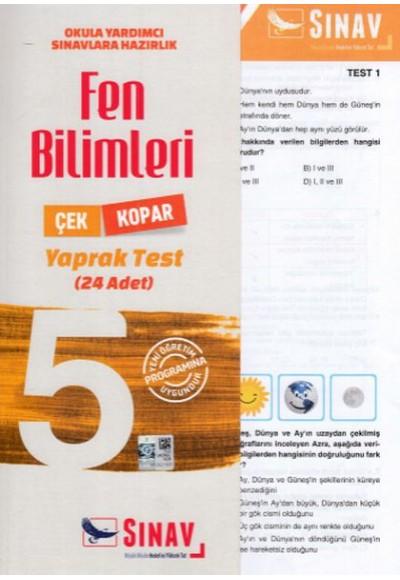 Sınav 5. Sınıf Fen Bilimleri Çek Kopar Yaprak Test