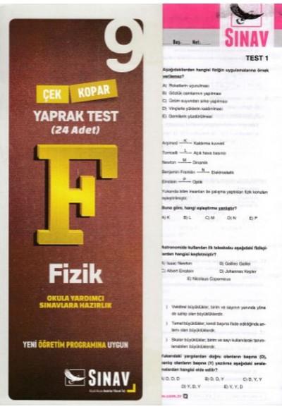 Sınav 9. Sınıf Fizik Çek Kopar Yaprak Test Yeni