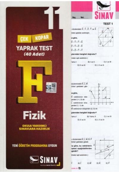 Sınav 11. Sınıf Fizik Çek Kopar Yaprak Test Yeni