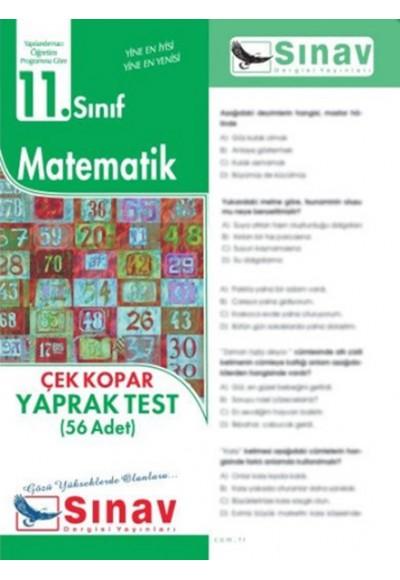 Sınav 11. Sınıf Matematik Çek Kopar Yaprak Test