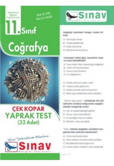 Sınav 11. Sınıf Coğrafya Çek Kopar Yaprak Test