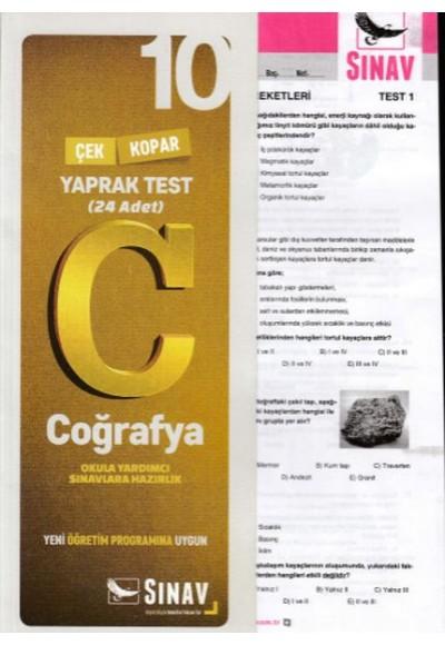 Sınav 10. Sınıf Coğrafya Çek Kopar Yaprak Test (Yeni)