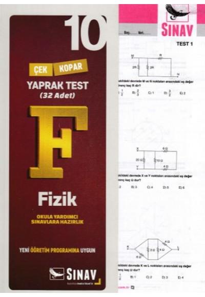 Sınav 10. Sınıf Fizik Çek Kopar Yaprak Test (Yeni)